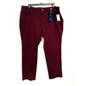 Charter Club Maroon Lexington Straight Leg Jeans